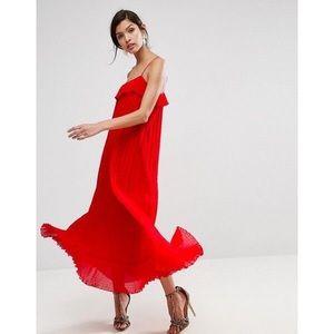 NWT ASOS Red Maxi Dress